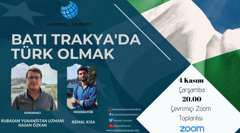 Batı Trakya'da Türk Olmak