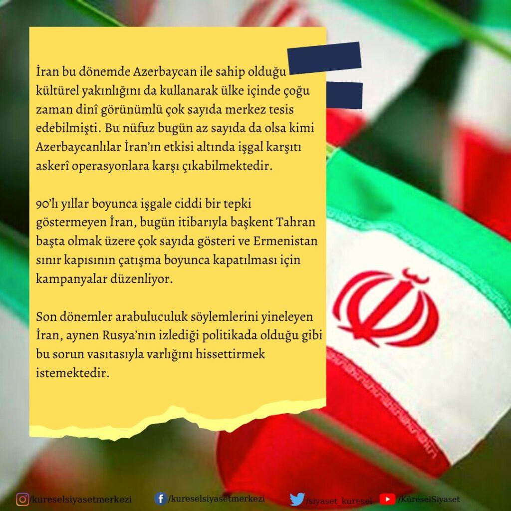 Dağlık Karabağ Krizine İran'ın Yaklaşımı