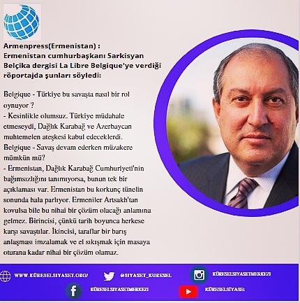 Ermenistan Cumhurbaşkanı Sarkisyan'ın Belçika Dergisi La Libre Belgique Röportajı