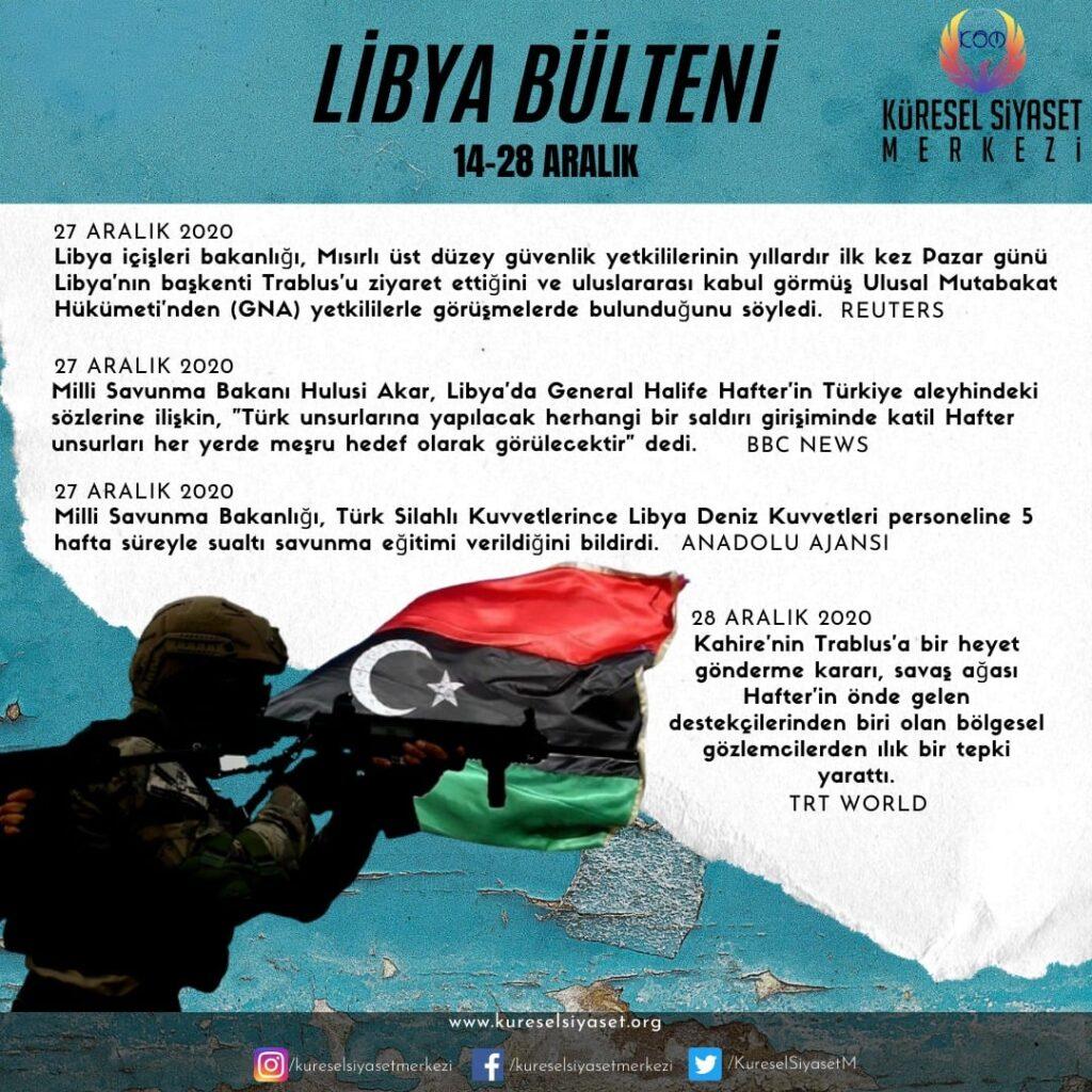 Libya Bülteni Son Dakika Haberler
