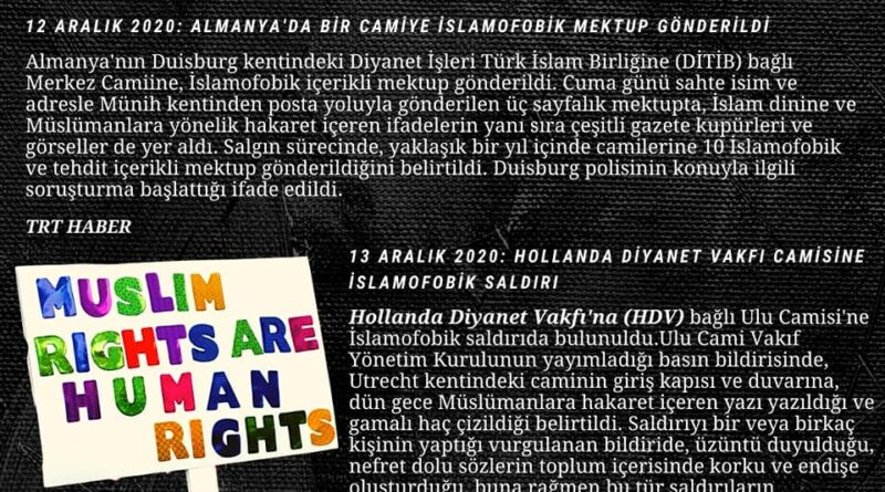 İslamofobi Bülteni Haberler